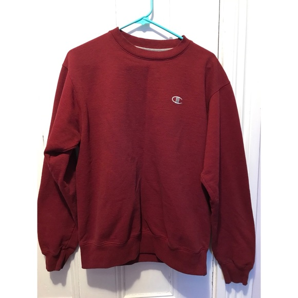 Champion Tops - Maroon Champion Crewneck Sweatshirt 71a6c00d51e0